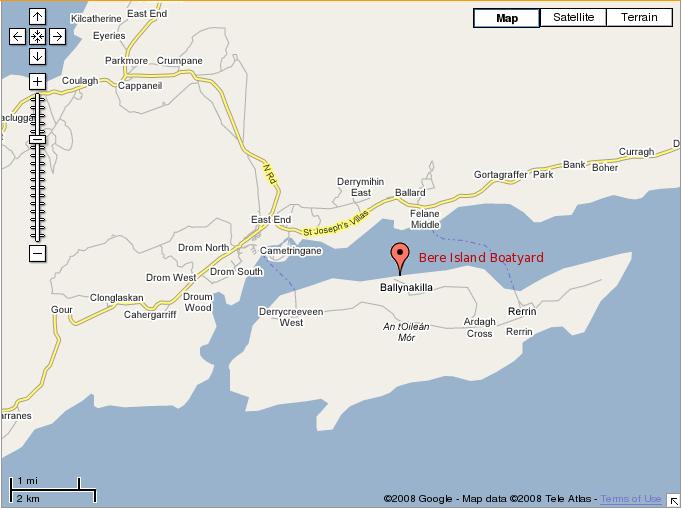 Map Ballinakilla On Bere Island